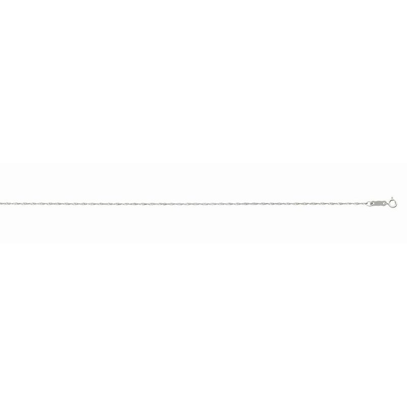 """White Polished 14 Karat Fancy Link Necklace Length 16"""""""