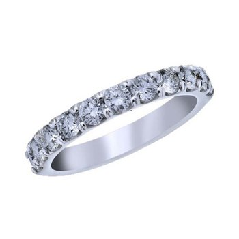 14kt White Gold French Pave Diamond Band 1/2ct F VS