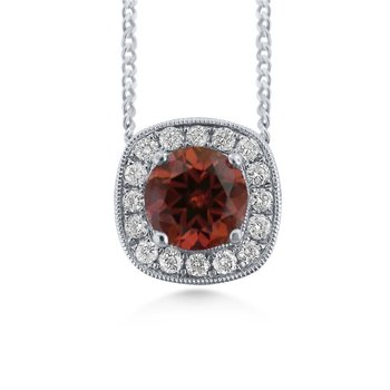 14 Karat Pendant with Rare Brown Zircon and Diamonds