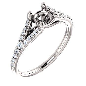 Split Shank Diamond Set Ring