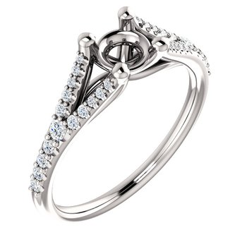 Split Shank Diamond Set Ring
