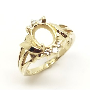 Fancy Swirl Diamond Ring Mounting