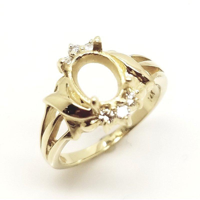 Fancy Swirl Diamond Ring Mounting