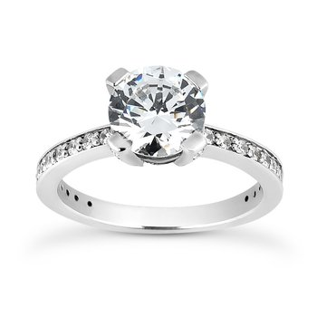 Channel style setting Engagement ring Mounting