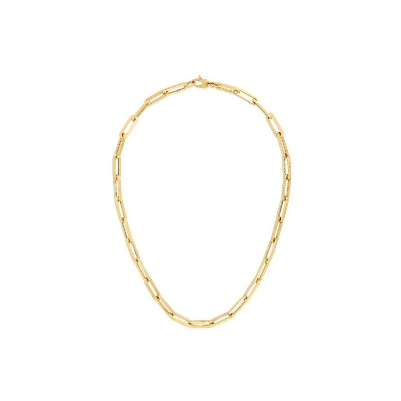 Yellow Sterling Silver Cable Link Chain