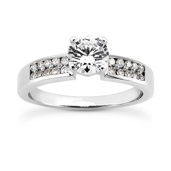Double Row Diamond Set Engagement Ring Mounting