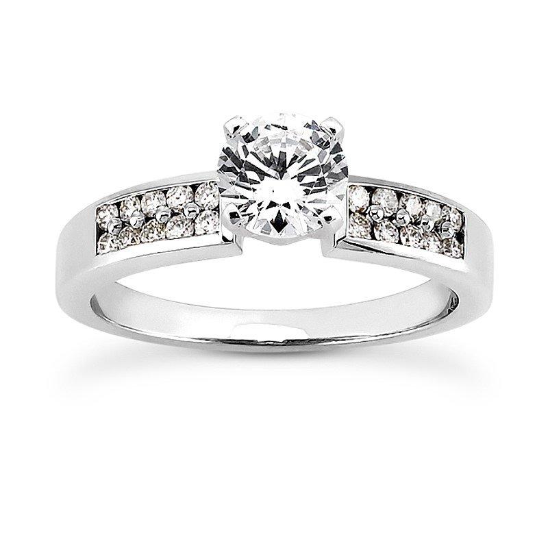 Double Row Diamond Set Engagement Ring Mounting