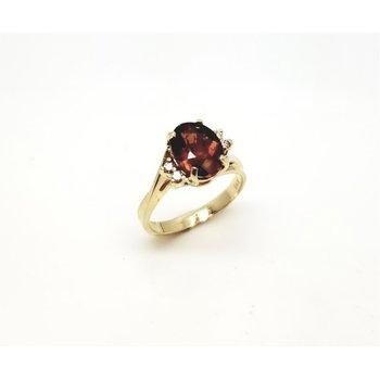 Yellow Gold Diamond And Citrine Ring
