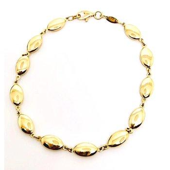 Fancy Oval Link Bracelet in Yellow Gold