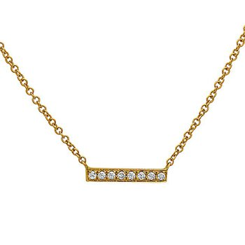 Yellow Gold Diamond Bar Pendant