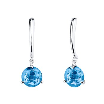Blue Topaz Drop Earrings