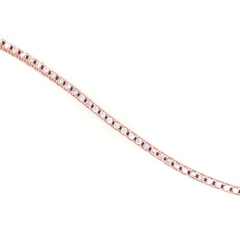 14 Kt Rose Tennis Bracelet With Diamonds
