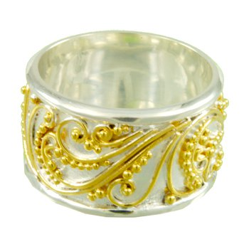 Vermeil and Silver Timeless Scroll Ring