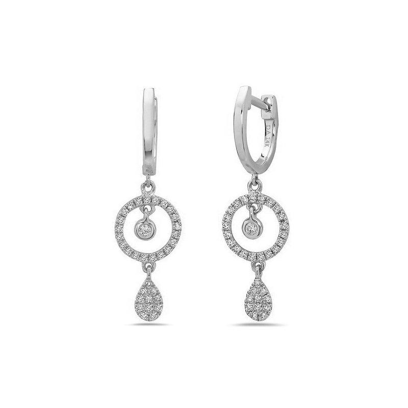 Stunning White Gold Diamond Drop Earrings