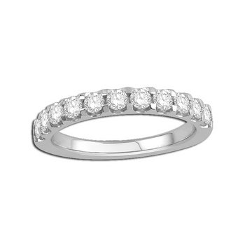 14 Karat Shared Prong Diamond Band