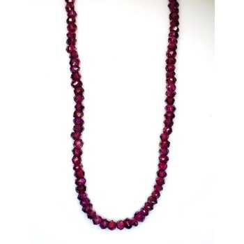 Faceted Garnet Bead Necklace
