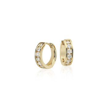 Bright Diamond Hoop Earrings