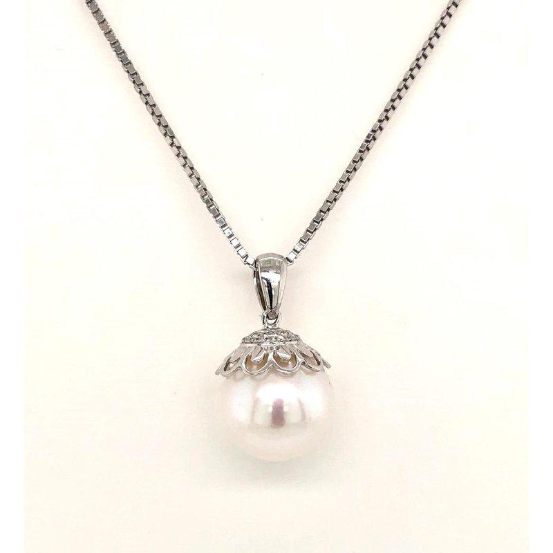 14 Karat White Gold Fresh Water Pearl Pendant