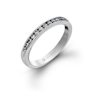14 kt White Gold Channel set Diamond Band