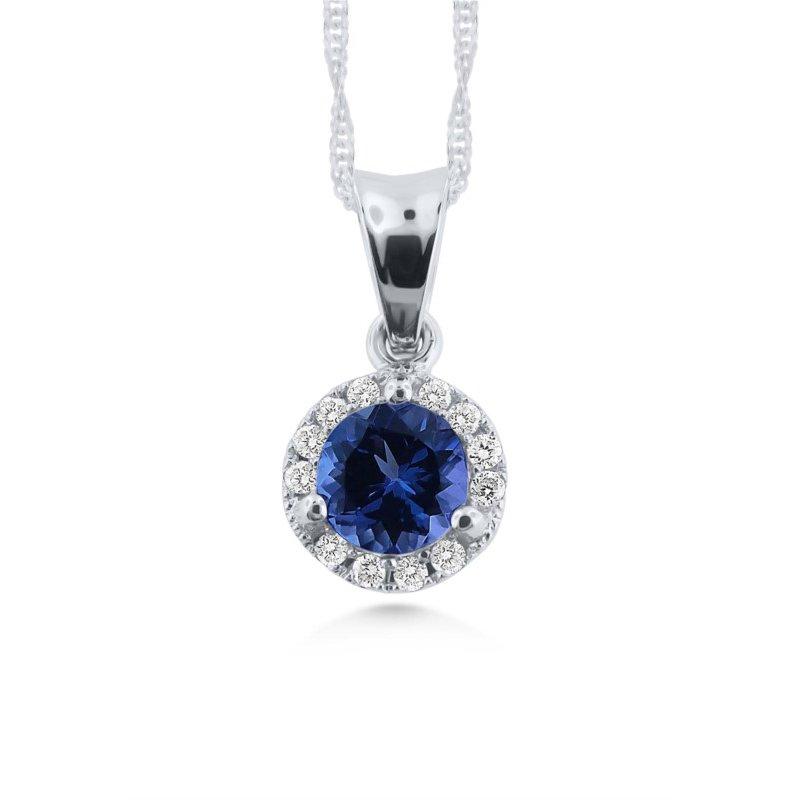 Fine Color Tanzanite Pendant With Diamonds
