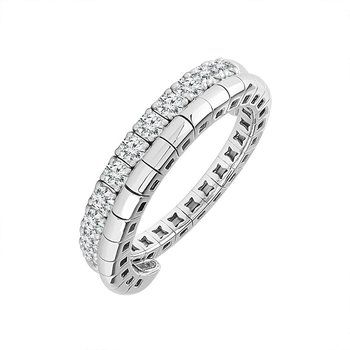 14 Karat White Gold Wrap Diamond Band