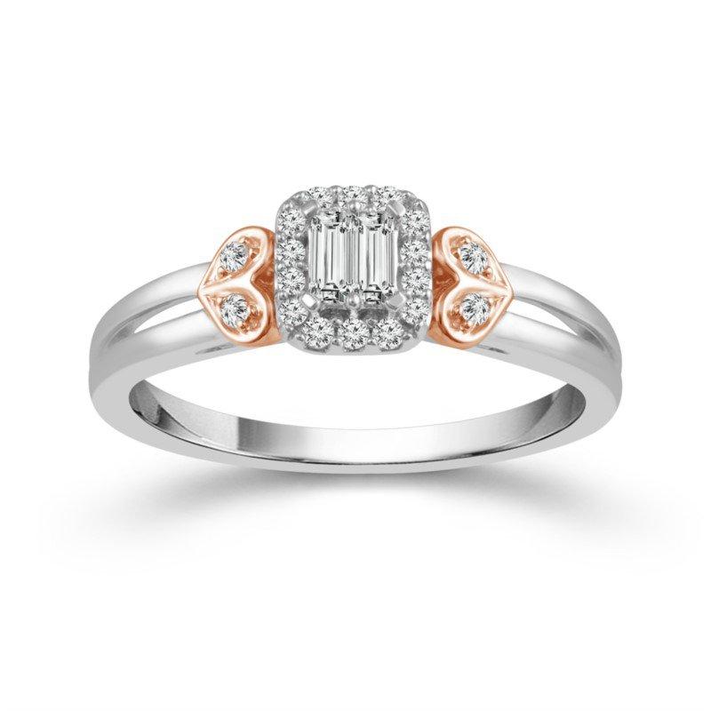 Diamond Engagement and Wedding Ring Set