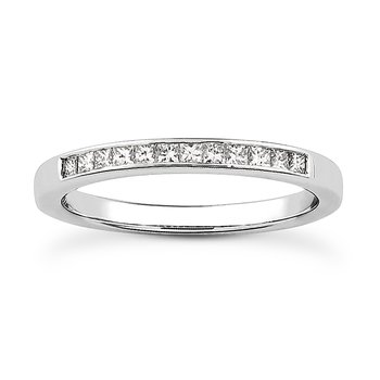 14 Karat White Gold Channel Set Band