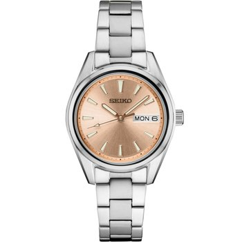 Lady's White Stainless Steel Quartz Watch