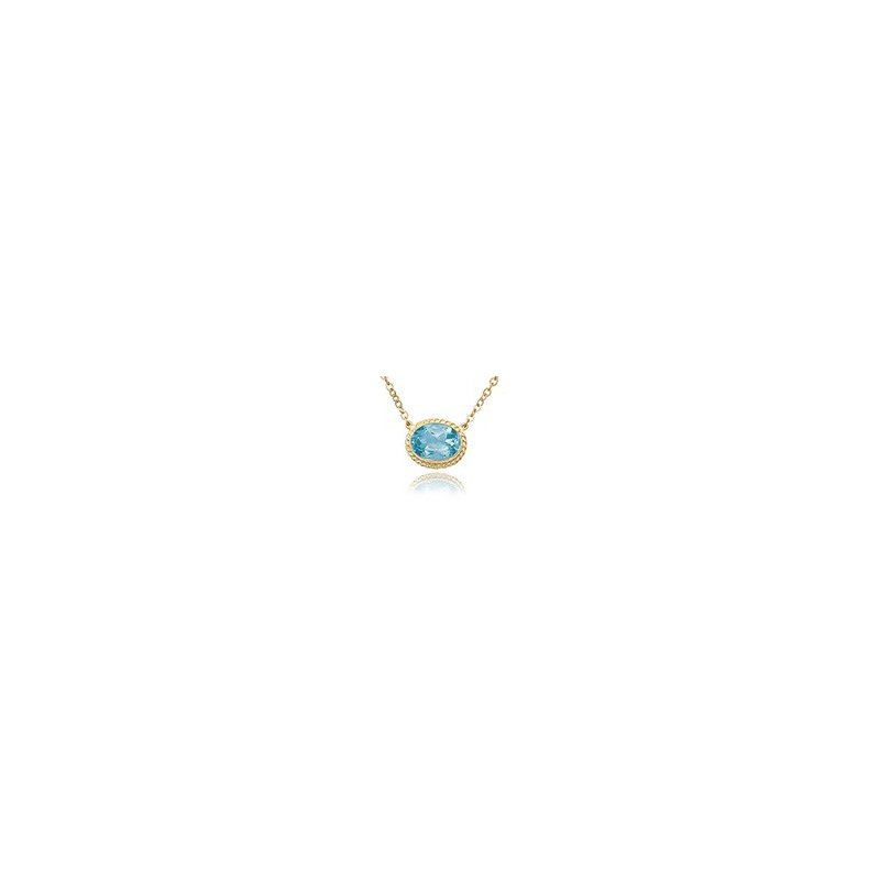 Fancy  Blue Topaz Pendant