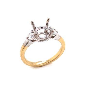 14 Karat White Gold  R.C. Wahl Collection Ring