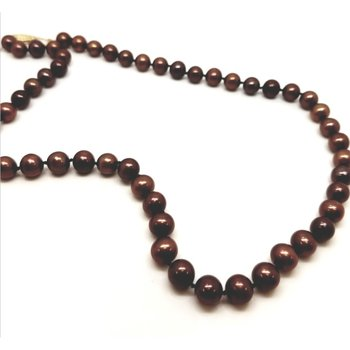 "Freshwater Chocolate Pearls, 18"""