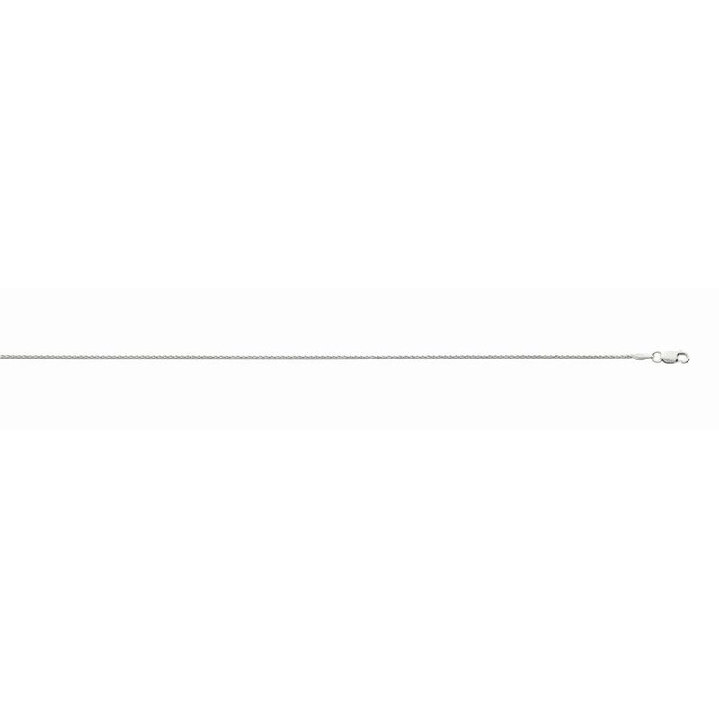 White 14 Karat Diamond Cut Wheat Necklace Length 16