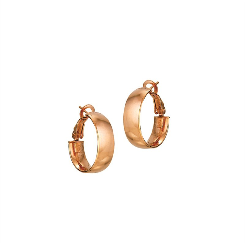 Rose Gold Round Medium Hoops