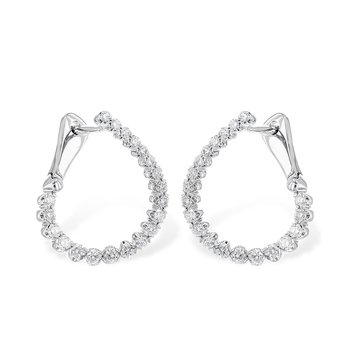 White Gold Diamond Hoops to Flatter Every Ear