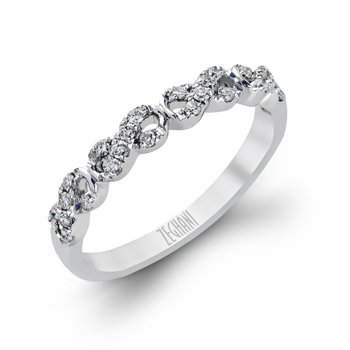 14kt White Gold Infinity Diamond Band
