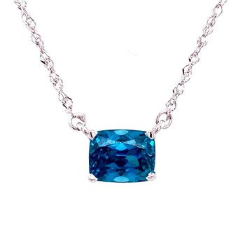 Stunning Cushion Shaped Zircon Pendant