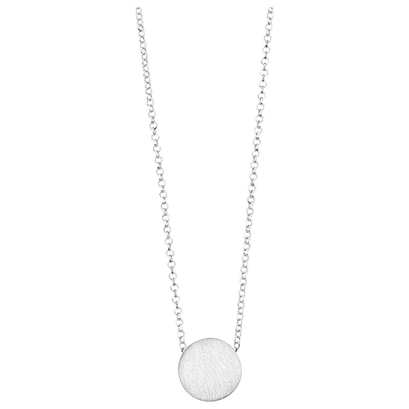 Sterling Silver Button Station Pendant