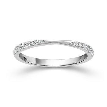 Twisting Diamond Stacking Band or Wedding Band