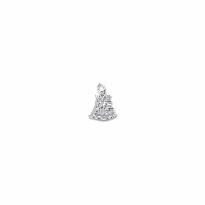 "Sterling Silver ""Live, Love, Laugh"" Charm"