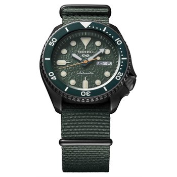 Dark Green Stainless Steel Seiko Automatic Watch