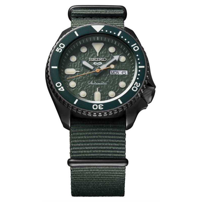 Dark Green Stainless Steel Seiko Automatic Watch