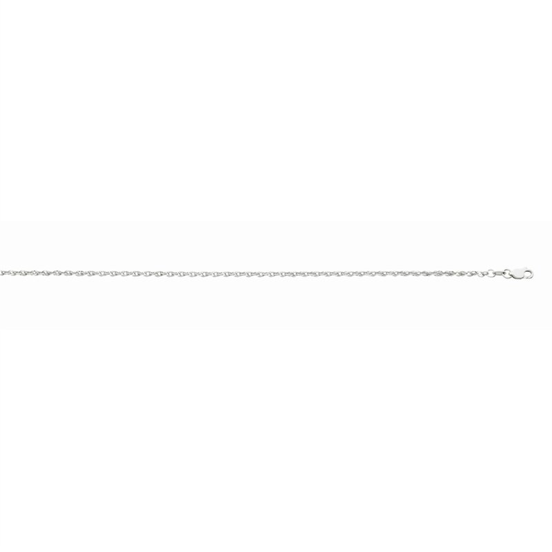 White Gold Fancy Rope Necklace