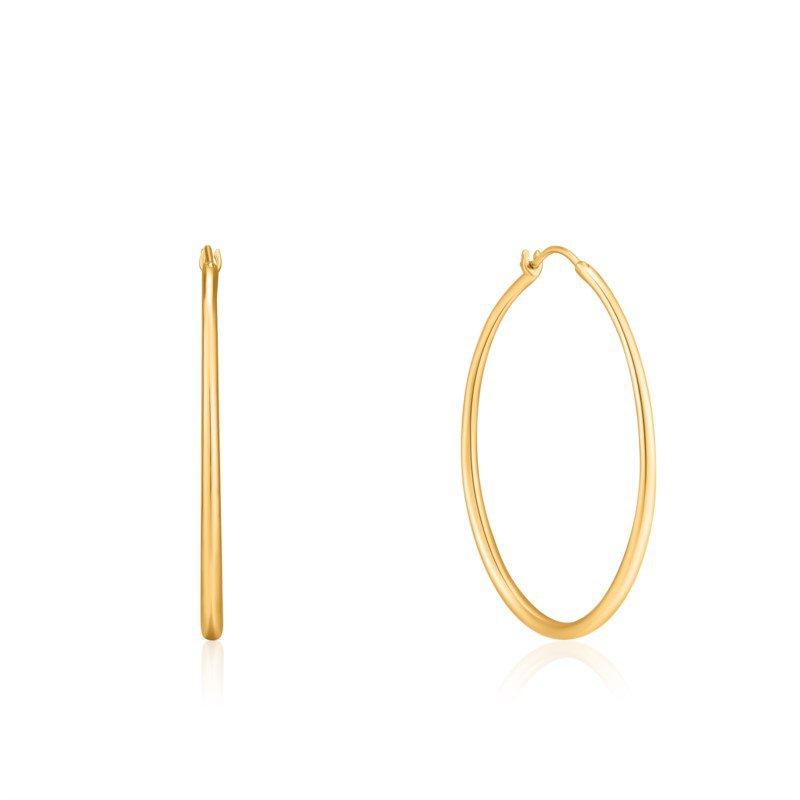 Yellow Sterling Silver Luxe Hoops Earrings
