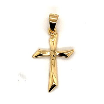 Yellow 14 Karat Small Cross