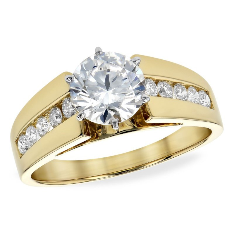 Substantial Yellow Gold Diamond Channel Set Ring