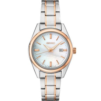 Ladies Rose and White Stainless Steel Quartz Watch