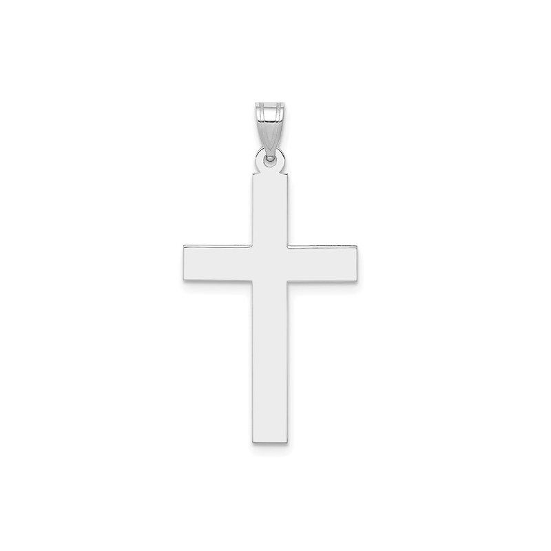 White Gold 36 mm Cross