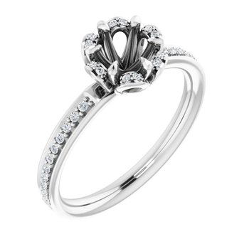 14 K 6 Mm Cushion Solitaire Engagement Ring