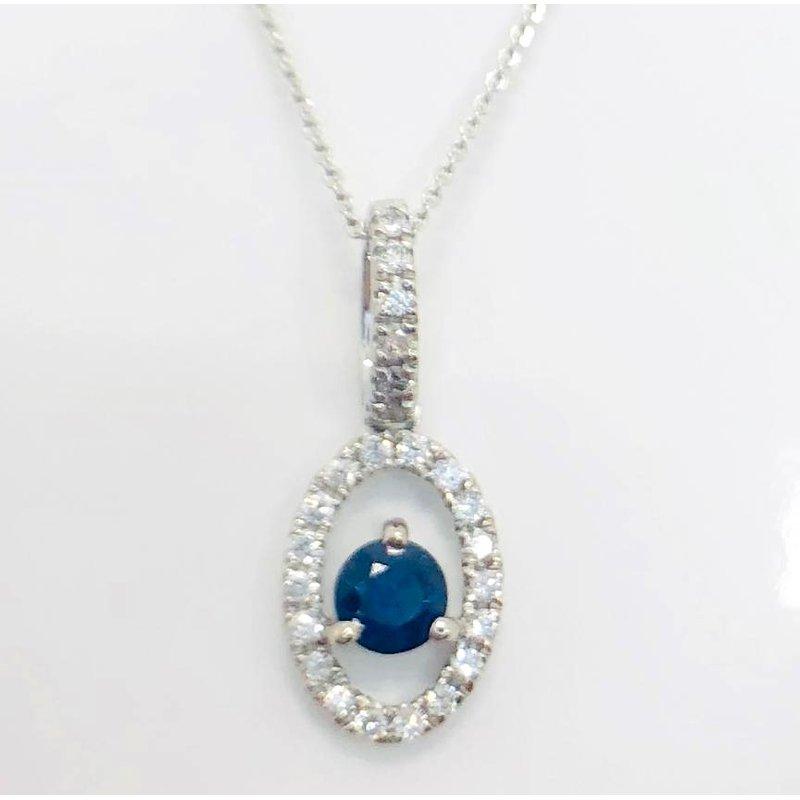 Delicate Sapphire and Diamond Pendant