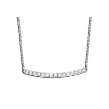Sleek Diamond Bar Necklace